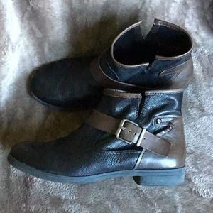 BCBGeneration black and brown leather booties